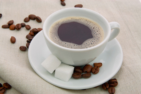 cafe au lait: Coffee with sugar Stock Photo