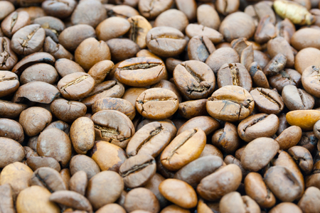 cafe au lait: Coffee beans background Stock Photo