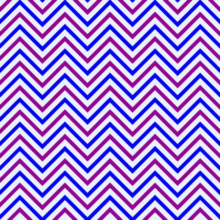 straight path: Aubergine blue zigzag pattern