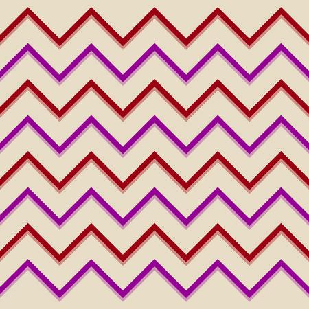 aubergine: Zigzag pattern red aubergine Illustration