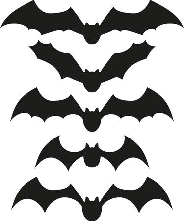 drakula: bats icon set Illustration