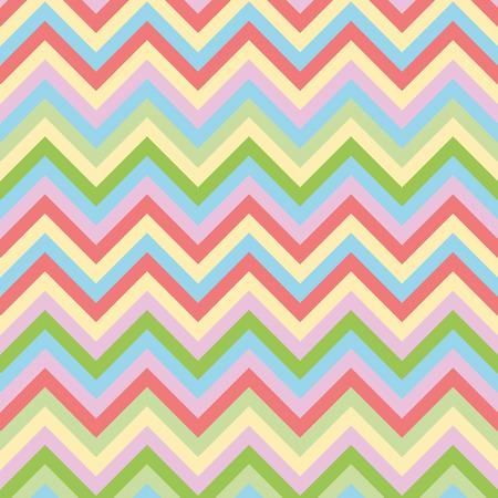 straight path: Spring zigzag pattern Illustration