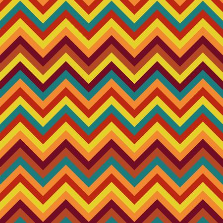 straight path: Autumn pattern zigzag Illustration
