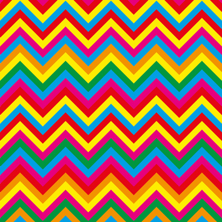 primary color: Summer pattern zig zag