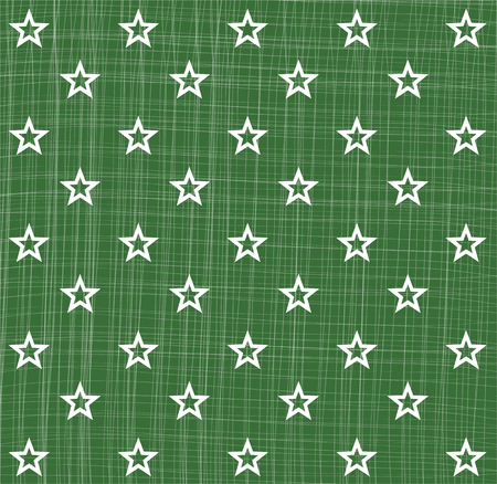 rapport: Green white star pattern