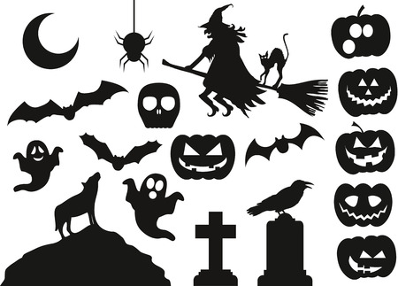 Halloween Vector Pack Stock fotó - 43612895