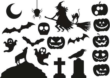 grave stone: Halloween Vector Pack
