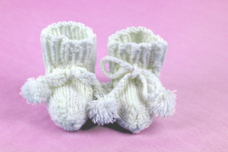 baby shoes: Baby Shoes pink Stock Photo