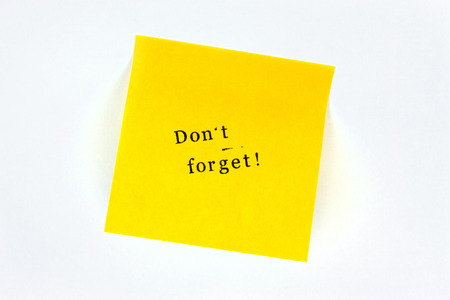 not forget: Do not forget Post note Stock Photo