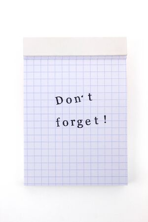 not forget: Notepad do not forget