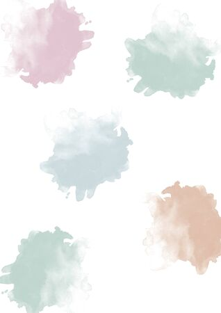 blobs: Watercolor blobs pastel Stock Photo