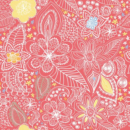 Paisley wiht a red background Illustration