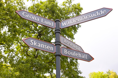 puntos cardinales: guía de Estocolmo Foto de archivo