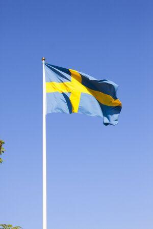 flagpoles: Flag sweden blue yellow