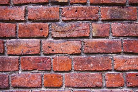 clinker: Wall made of red bricks