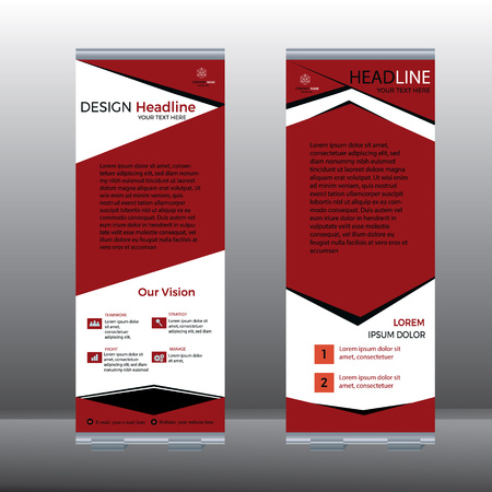 Roll up template design red and black. Illustration