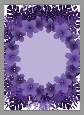 Flower frame,Floral Invitation Template . Vettoriali