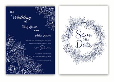 Wedding invitation , Save the date,