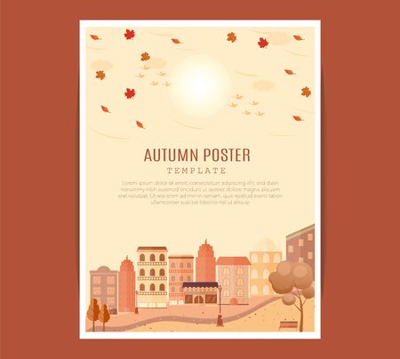 Nature Vacation Landscape Illustrations Set . mid-autumn festival poster Archivio Fotografico - 129016193