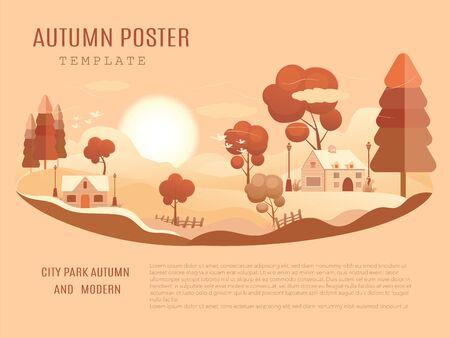 Nature Vacation Landscape Illustrations Set . mid-autumn festival poster Archivio Fotografico - 129016217