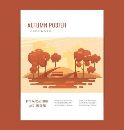 Nature Vacation Landscape Illustrations Set . mid-autumn festival poster