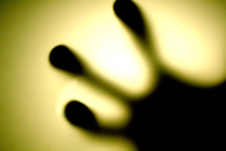 radiance: a special view of fingertips, radiance background  Stock Photo