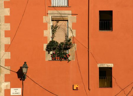house facade in europe, mediterranean style, warm colors Stock Photo - 3262825
