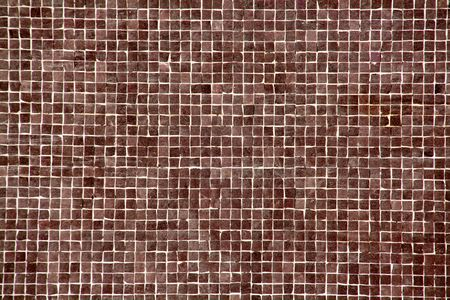 pattern, background or texture of a big brown mosaic Stock Photo - 3357538