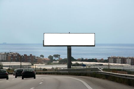 Outdoor advertising billboard, add your text or image on the empty space photo