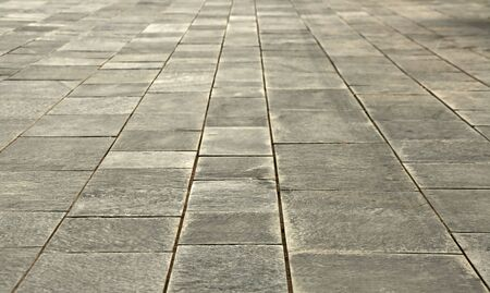 big stones floor promenade, perspective on horizontal view Stock Photo - 3371319