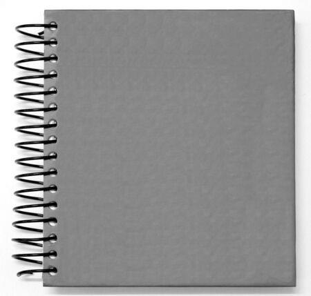 notebook cover: gray blank Book