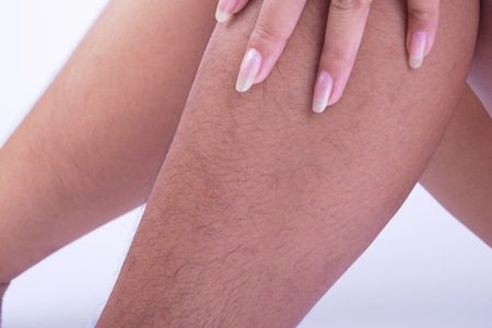 man hair: Hairy legs of Women long and very ugly.