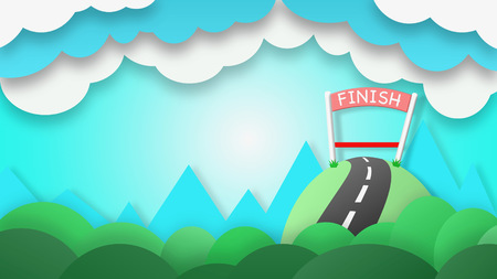 tried: The finish line of success It is for those who have tried only. Stock Photo