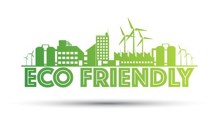 Eco friendly manufacturer illustration.