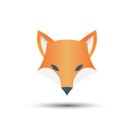 Fox logo, vector illustration
