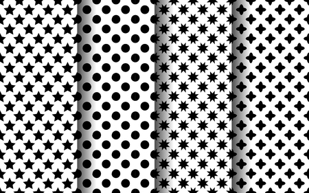 Black and white modern seamless pattern. EPS 10 vector.