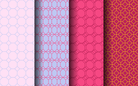 Octagon style seamless pattern. Graphic design. EPS 10 vector. 일러스트