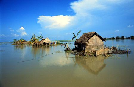 バングラデシュの村 写真素材