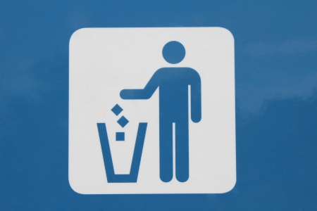 Do not litter sign - Photo of a sign encouraging people to use the garbage bin. Stock Photo - 17525116