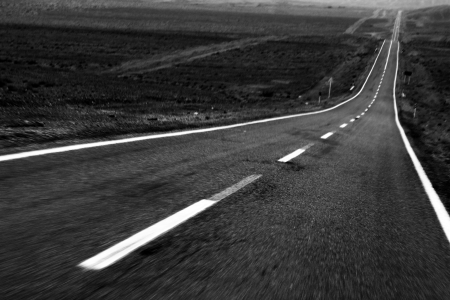 Motion blurred road 写真素材