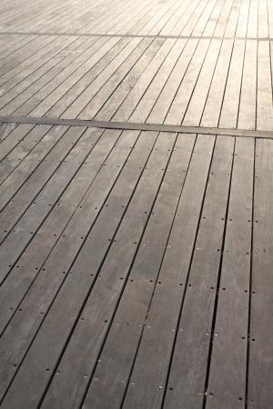 Closeup of boardwalk