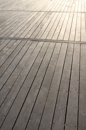 treated board: Closeup of boardwalk