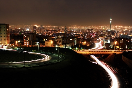 Tehran skyline at night, Tehran, Iran