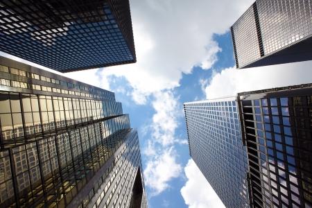 Kantoorgebouwen in het financiële district van Toronto, Ontario, Canada Stockfoto