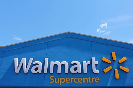 walmart: Walmart Supercentre sign