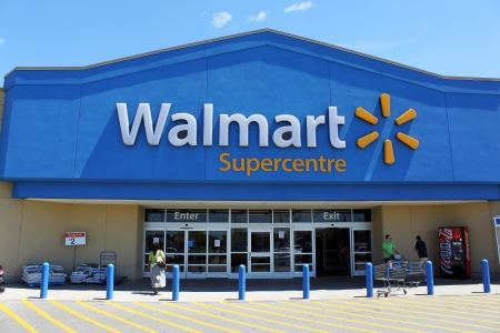 Walmart Supercentre entrance Editorial