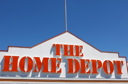 The Home Depot store sign
