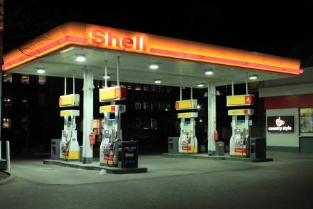 Shell gas station 에디토리얼