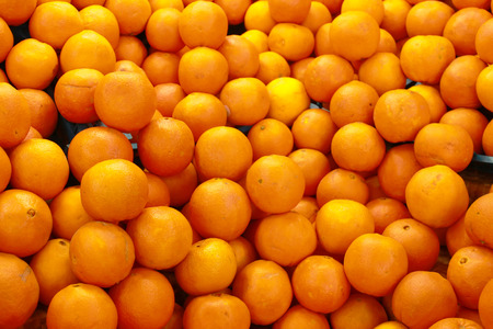 Pile of fresh oranges 스톡 콘텐츠
