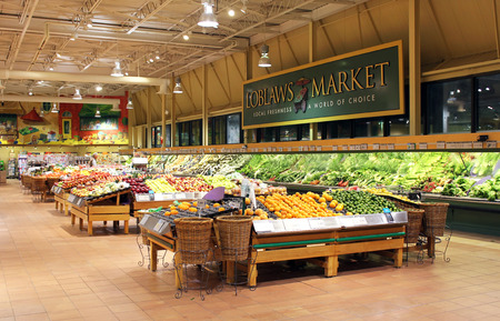 supermarket shopping: Loblaws supermarket in Toronto, Ontario, Canada